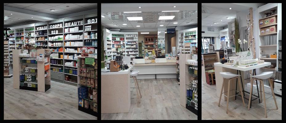 L'intérieur en 2018 de la Pharmacie Mai