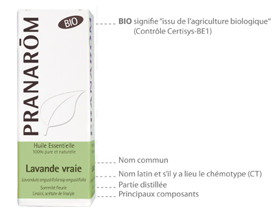 Carte d'identité d'une huile essenteille